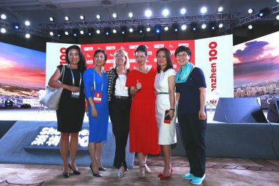 Shunee Yee, Yanmei Zhu and other women leaders at Shenzhen100•China Globalization Forum